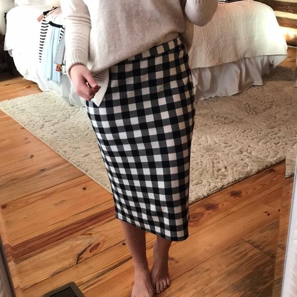 87951fb60 Dresses & Skirts - Black & White Gingham Pencil Skirt
